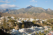 Popular holiday resort town of Nerja, Malaga province, Spain