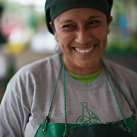 Lolibeth Ojeda Aguirre, worker at BOS banana processing plant in Salitral. Peru.