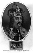 Frederick I Barbarossa (1121-1190) King  of Germany from 1152,  Holy Roman Emperor from 1155. Engraving, London, c1810.