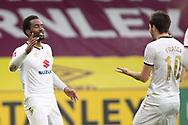 Milton Keynes Dons forward Cameron Jerome (35)  celebrates his goal with team-mates during the FA Cup match between Burnley and Milton Keynes Dons at Turf Moor, Burnley, England on 9 January 2021.