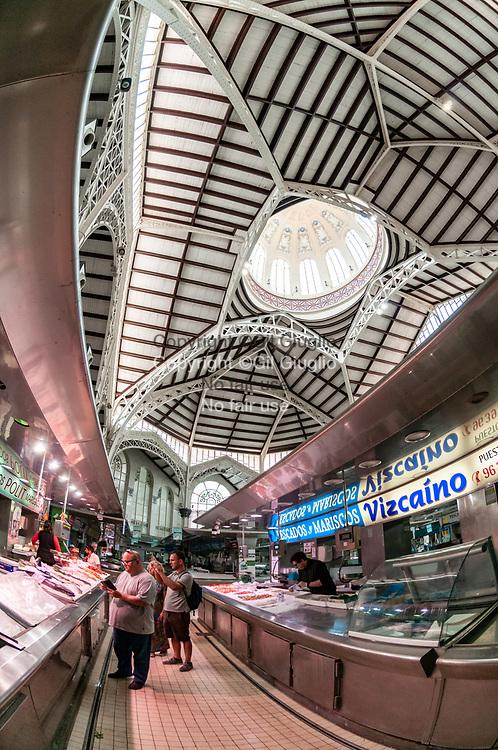Espagne, Valence, vieille-vllle, Mercat Central (Marché central) // Spain, Valencia, Mercat Central (Central market)