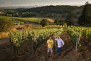 Domaine Nicholas-Jay partners Jay Boberg & Jean-Nicolas Méo at Bishop Creek Vineyard, Willamette Valley, Oregon