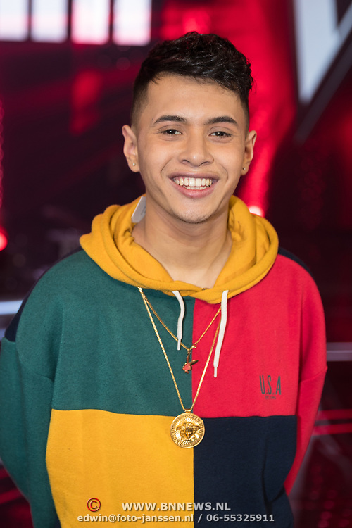 NLD/Hilversum/20180216 - Finale The voice of Holland 2018, Vinchenzo Tahapary