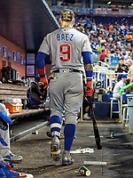 Javier Baez during a MLB game between the Chicago Cubs and the Miami Marlins at Hard Rock Stadium , in Miami ,FL on 6.24.17.<br /> ( Photo/Tom DiPace)