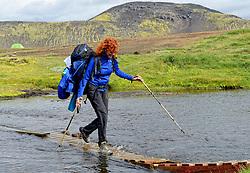 09-07-2014 ISL: Iceland Diabetes Challenge Dag 5, Emstrur<br /> Van Alftavatn naar Emstrur / Marion Fokkert