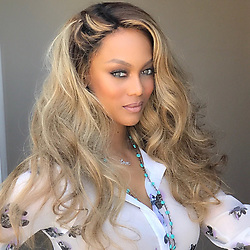 """Tyra Banks releases a photo on Twitter with the following caption: """"""""Blonde ambition baby! See ya tomorrow night for @antmvh1!"""""""". Photo Credit: Twitter *** No USA Distribution *** For Editorial Use Only *** Not to be Published in Books or Photo Books ***  Please note: Fees charged by the agency are for the agency's services only, and do not, nor are they intended to, convey to the user any ownership of Copyright or License in the material. The agency does not claim any ownership including but not limited to Copyright or License in the attached material. By publishing this material you expressly agree to indemnify and to hold the agency and its directors, shareholders and employees harmless from any loss, claims, damages, demands, expenses (including legal fees), or any causes of action or allegation against the agency arising out of or connected in any way with publication of the material."""