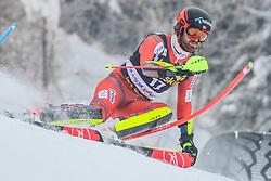 Leif Kristian Nestvold-Haugen (NOR) during 1st run of Men's Slalom race of FIS Alpine Ski World Cup 57th Vitranc Cup 2018, on March 4, 2018 in Kranjska Gora, Slovenia. Photo by Ziga Zupan / Sportida