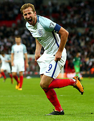 Harry Kane of England celebrates scoring a goal to make it 1-0 - Mandatory by-line: Robbie Stephenson/JMP - 05/10/2017 - FOOTBALL - Wembley Stadium - London, United Kingdom - England v Slovenia - World Cup qualifier