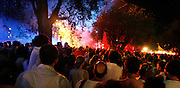 Cimiez, Nice. France. July 19th 2006..People enjoy Erykah Badu's concert at the Nice Jazz Festival.