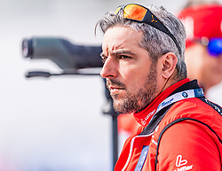 16.02.2020, Suedtirol Arena, Antholz, ITA, IBU Weltmeisterschaften Biathlon, Damen, 10 km Verfolgung, im Bild Ricco Gross Cheftrainer Biathlon Trainingsgruppe I (AUT) // Ricco Groß head coach biathlon training group I of Austria during women's 10 km Pursuit of IBU Biathlon World Championships 2020 at the Suedtirol Arena in Antholz, Italy on 2020/02/16. EXPA Pictures © 2020, PhotoCredit: EXPA/ Stefan Adelsberger