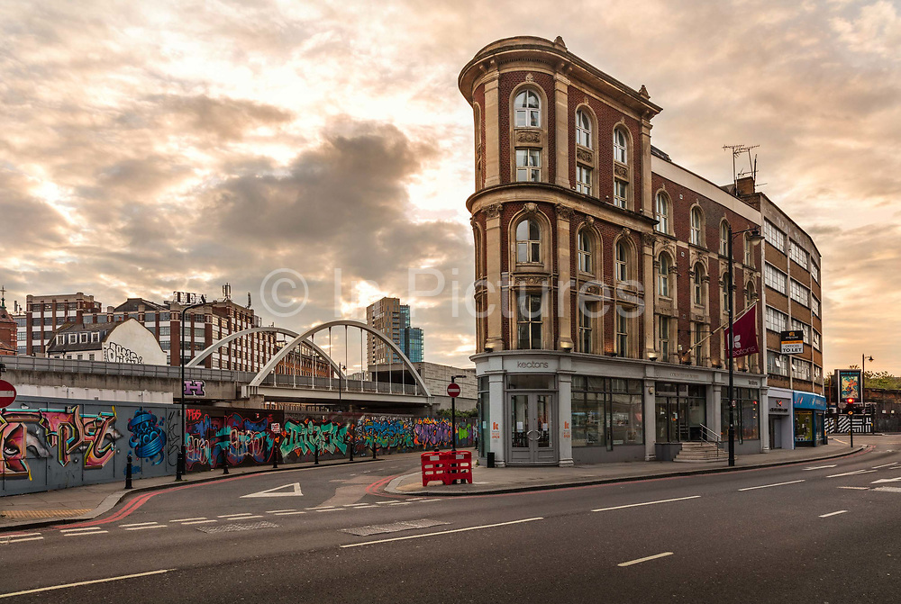 Corinthian House on empty Great Eastern Street, Shoeditch during the coronavirus pandemic on the 4th May 2020 in London, United Kingdom.