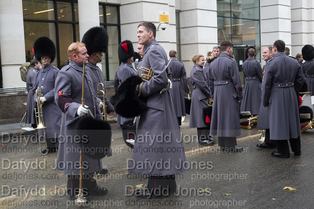 COLDSTREAM GUARDS, Lord Mayor's show London. 11 November 2017.