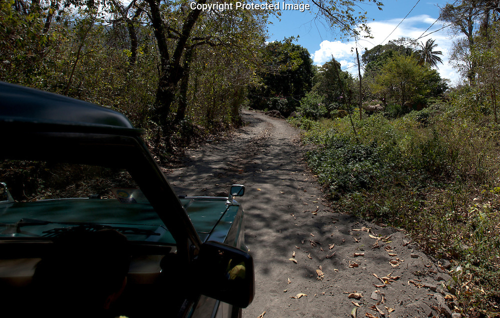 The dirt road towards the base of Madera Volcano on Ometepe Island, Nicaragua on Sunday, February 13th 2011.