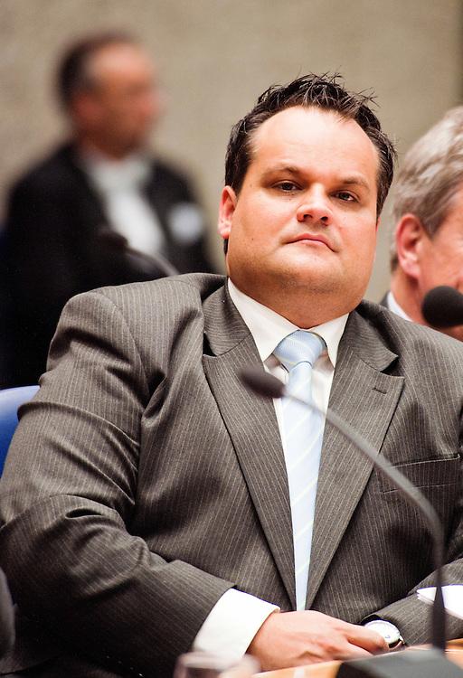Nederland, Den Haag, 21 sept   2011.Algemene Politieke Beschouwingen in de tweede kamer.. Minister de Jager van financien.Foto (c): Michiel Wijnbergh