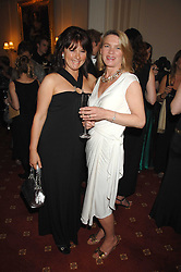 Left to right, DEBBIE WARREN and MAGGIE LINDSELL at the 2008 Berkeley Dress Show at the Royal Hospital Chelsea, London on 3rd April 2008.<br />