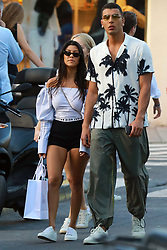 Saint Tropez, 6th of July 2017<br /> Kourtney Kardashian and boyfriend Younes Bendjima shopping spree in town<br /> ABACAPRESS.COM