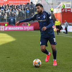 Waldhofs Mohamed Gouaida (Nr.18) am Ball beim Spiel in der 3. Liga, FC Wuerzburger Kickers - SV Waldhof Mannheim.<br /> <br /> Foto © PIX-Sportfotos *** Foto ist honorarpflichtig! *** Auf Anfrage in hoeherer Qualitaet/Aufloesung. Belegexemplar erbeten. Veroeffentlichung ausschliesslich fuer journalistisch-publizistische Zwecke. For editorial use only. DFL regulations prohibit any use of photographs as image sequences and/or quasi-video.