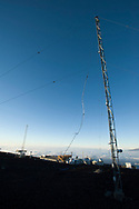 The original meteorological observation tower at the Mauna Loa Observatory, Hilo, Hawaii.
