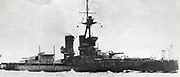 British battleship HMS 'Iron Duke': Built in the Royal Naval Dockyard, Portsmouth, England, and commissioned in 1914, Admiral Jellicoe made her flagship of the Grand Fleet. She was present at the Battle of Jutland, 31 May 1916.