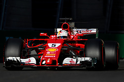 June 24, 2017 - Baku, Azerbaijan - Sebastian Vettel of Germany (5) Scuderia Ferrai F1 Team on track during final practice for the Azerbaijan Formula One Grand Prix at Baku City Circuit. (Credit Image: © Aziz Karimov/Pacific Press via ZUMA Wire)