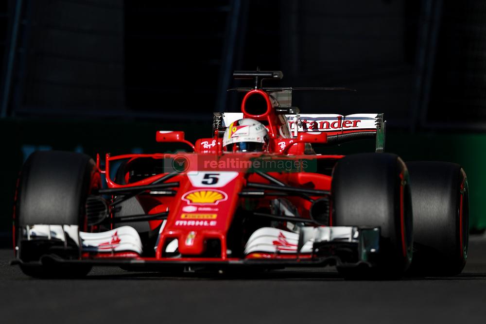 June 24, 2017 - Baku, Azerbaijan - Sebastian Vettel of Germany (5) Scuderia Ferrai F1 Team on track during final practice for the Azerbaijan Formula One Grand Prix at Baku City Circuit. (Credit Image: © Aziz Karimov/Pacific Press via ZUMA Wire)