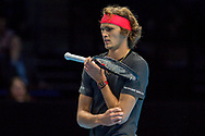 Alexander 'Sasha' Zverev of Germany during the Nitto ATP Tour Finals at the O2 Arena, London, United Kingdom on 18 November 2018. Photo by Martin Cole