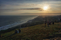 May 19, 2017 - Yogyakarta, Indonesia - Visitors enjoy the sunset in Yogyakarta, Indonesia on May 19, 2017. Indonesia targets the visit of 20 million foreign tourists by increasing the number of natural attractions. (Credit Image: © Nugroho Hadi Santoso/NurPhoto via ZUMA Press)