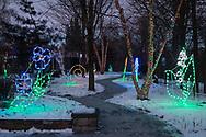 Hamptonburgh, New York  - Holiday Lights in Bloom at the Orange County Arboretum on Dec. 28, 2017.