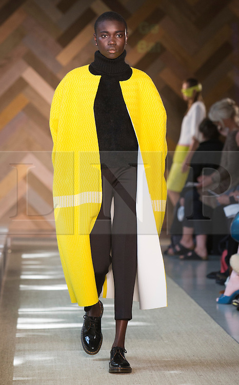© Licensed to London News Pictures. 29/05/2014. London, England. Collection by Ge Bai. 30 students of the Royal College of Art's prestigious MA Fashion programme presented their final collections in  a runway show at the RCA building in Kensington. Photo credit: Bettina Strenske/LNP