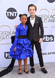 2019 SAG Awards - Arrivals. 27 Jan 2019 Pictured: Faithe Herman and Parker Bates. Photo credit: OConnor-Arroyo / AFF-USA.com / MEGA TheMegaAgency.com +1 888 505 6342