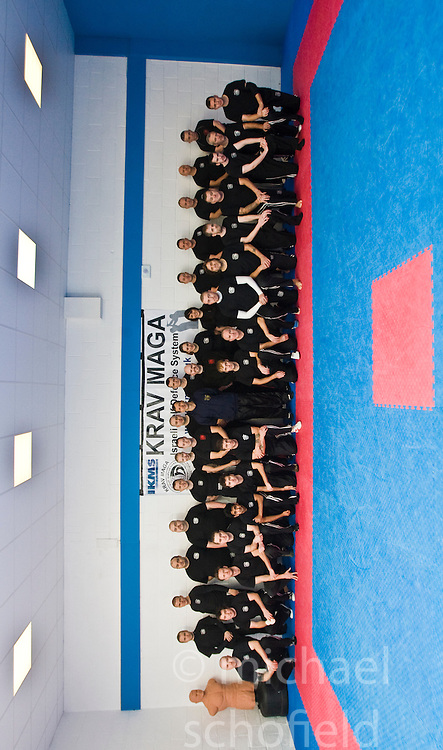 International Krav Maga Federation grading and bus seminar on the 14th November 2010..The Seminar and Grading was conducted by IKMF Chairman and Master Level Instructor, Avi Moyal, at the Scottish Martial Arts Centre, Dumyat Business Park, Tullibody. Pic of the first batch of P1 students..Pic ©2010 Michael Schofield. All Rights Reserved.