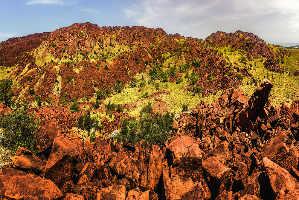 Murujuga (Burrup Peninsula Hills) of Pilbara, Western Australia