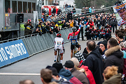 Finish of the Women Elite race with a victory for BRAND Lucinda (NED), 2019 UCI Cyclo-cross World Cup Heusden-Zolder, Belgium, 26 December 2019. <br /> <br /> Photo by Pim Nijland / PelotonPhotos.com <br /> <br /> All photos usage must carry mandatory copyright credit (Peloton Photos   Pim Nijland)