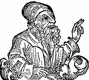 Anaxagoras (c500-428 BC) Ancient Greek philosopher. Among his pupils in Athens were Pericles and Euripides. Woodcut from Hartmannn Schedel 'Liber chronicarum mundi' (Nuremberg Chronicle) Nuremberg 1493