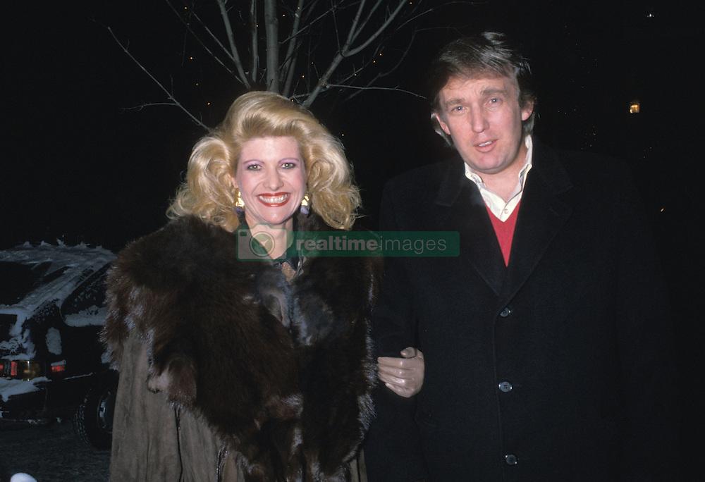 Dec 04, 1988; Los Angeles, CA, USA; Real state tycoon DONALD TRUMP & wife, socialite IVANA TRUMP in vacation in Aspen, Colorado. (Credit Image: © Laura Luongo/ZUMAPRESS.com)