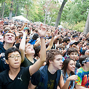 COLUMBIA, MD - October 6th, 2012 - The crowd dances to the sounds of DJ Alvin Risk at the 2012 Virgin Mobile FreeFest in Columbia, MD. (Photo by Kyle Gustafson / For The Washington Post)