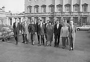 Progressive Democrat TD's At Leinster House.(R51)..1987..27.02.1987..02.27.1987..27th February 1987..After the General Election the P.D. deputies assembled at Dáil Éireann,Leinster House, Dublin...Image of the P.D.Deputies:.Michael Keating, Dublin..Michael McDowell, Dublin..Martin Cullen, Waterford..John McCoy, Limerick West..Anne Colley, Dublin..Pat O'Malley, Dublin..Des O'Malley, Party Leader,Limerick..Peader Clohessey, Limerick East..Mary Harney, Dublin..Geraldine Kennedy, Dublin..Bobby Molloy, Galway..Martin Gibbons, Carlow/Kilkenny..Mairin Quill,Cork..Pearse Wyse, Cork..
