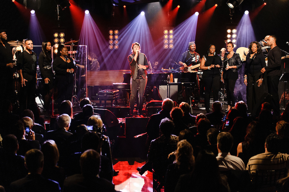 Photos of singer Josh Groban performing live at iHeartRadio Theater, NYC. February 11, 2013. Copyright © 2013 Matthew Eisman. All Rights Reserved.