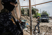 Officers of Iraqi Federal Police Forces are seen at the frontline in West Mosul, Iraq. <br />
