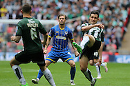 Dannie Bulman midfielder of AFC Wimbledon (4) during the Sky Bet League 2 play off final match between AFC Wimbledon and Plymouth Argyle at Wembley Stadium, London, England on 30 May 2016. Photo by Stuart Butcher.