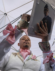 September 24, 2019, Los Angeles, California, U.S: Actor Terrence Howard signs autographs after his star ceremony on the Hollywood Walk of Fame in the Category of Television, on Tuesday, Sept. 24, 2019, in Los Angeles (Credit Image: © Ringo Chiu/ZUMA Wire)