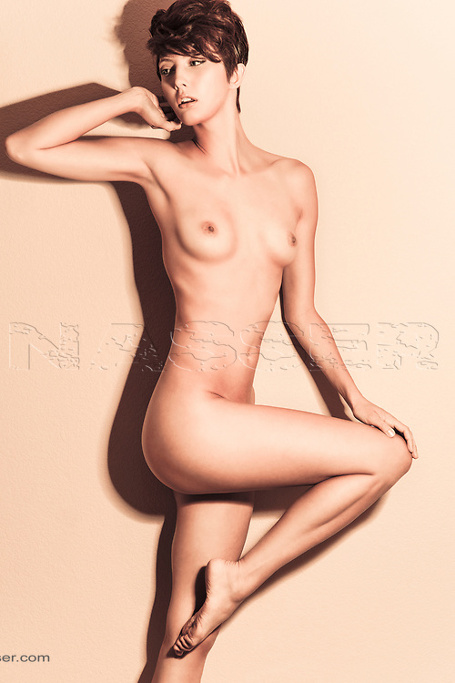 Portrait of a Naked Woman in the studio. Raw Beauty Nude Editorial.