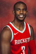 Houston, TX - September 25, 2017:  Houston Rockets' Chris Paul pose during the Rockets' 2017 Media Day.<br /> <br /> credit:  Michael Starghill for ESPN