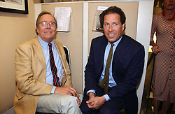 Left to right, the EARL OF SNOWDON and his son VISCOUNT LINLEY at an exhibition of photographs by Lord Snowdon held at the Chris Beetles Gallery, Ryder Street, London on 18th September 2006.<br /><br />NON EXCLUSIVE - WORLD RIGHTS
