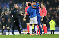 Football - 2017 / 2018 UEFA Europa League - Group E: Everton vs. Olympique Lyonnais (Lyon)<br /> <br /> Everton manager Ronald Koeman complains to the officials after the match at Goodison Park.<br /> <br /> COLORSPORT/LYNNE CAMERON