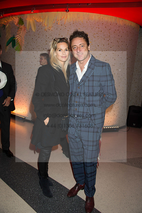 JEREMY HEALY and EMMA WOOLLARD at the 3rd anniversary party of Sushisamba at the Heron Tower, 110 Bishopsgate, City of London on 10th November 2015.