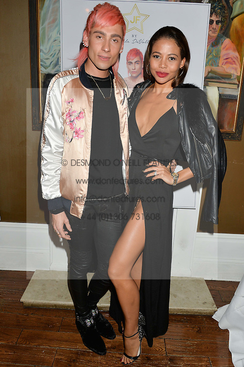 KYLE DE'VOLLE and VISCOUNTESS WEYMOUTH at a dinner for JF London x Kyle DeVolle held at Beach Blanket Babylon, Ledbury Road, London on 29th September 2016.