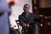 CAMBRIDGE, MASSACHUSETTS-APRI 26: David Adijaye, Arthitect attends the 209 Inaugural Vison & Justice, A Convening' organized by the Radcliffe Institute, The Hutchins Center and the Ford Foundation curated by Sarah E. Lewis, Ph.D, Harvard University held at the Radcliffe Center on April 25, 2019 in Cambridge, Massachusetts  (Photo by Terrence Jennings/terrencejennings.com)