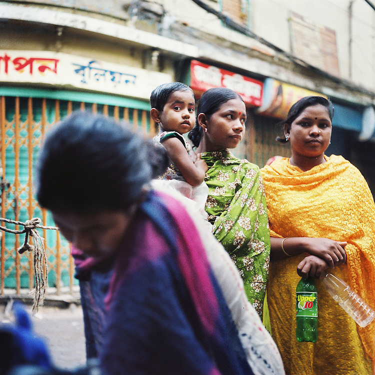 Hindu Street in Old Dhaka.  Hindus were among the first killed when the war broke out in 1971, as they were seen by the Pakistani army as instigators, the individuals who created the movement for an independent Bangladesh.<br /> <br /> Old Dhaka, Bangladesh.