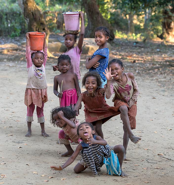 Happy children at Nahampoana Private Reserve, Madagascar
